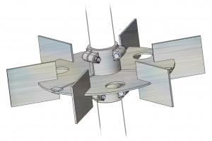 Turbine de Rushton pour dispersion des liquides