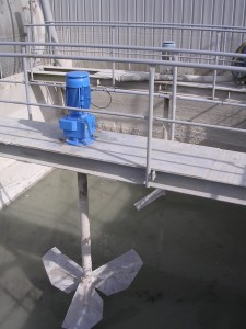 HYDROMIX agitator - industrial effluents (cementery)
